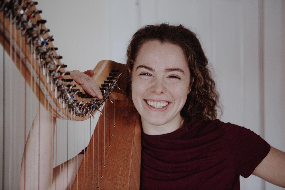 Folk Harp with Clara