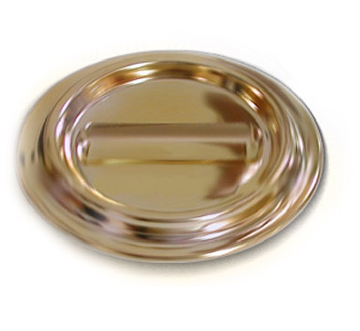 Caster Cup Lucite, brass-plated