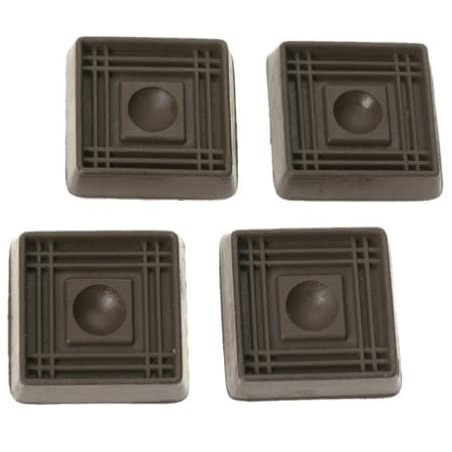 Caster Cups set-of-4 Rubber XS 2″ square