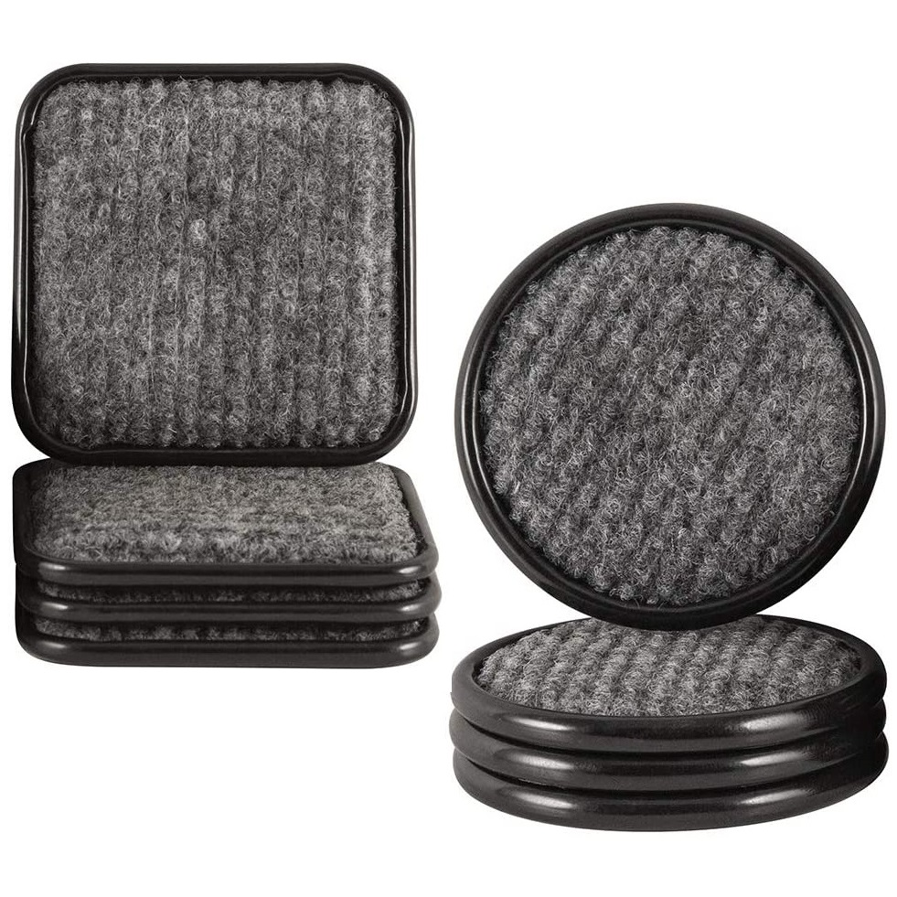 Caster Cups set-of-4 XS – Carpeted Metal